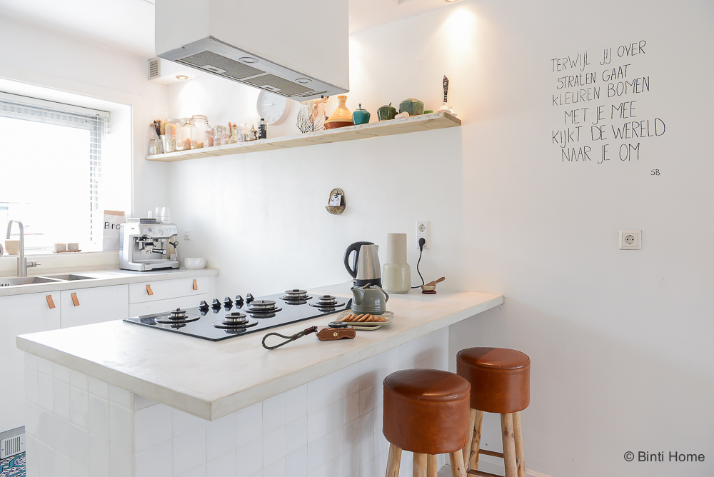 Marokkaanse Tegels Keuken : Marokkaanse tegels op het kookeiland in de keuken