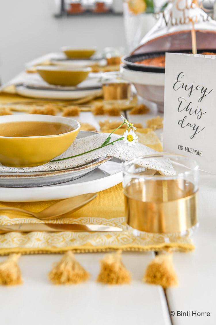 Ramadan vlog Suikerfeest tafel styling ©BintiHome