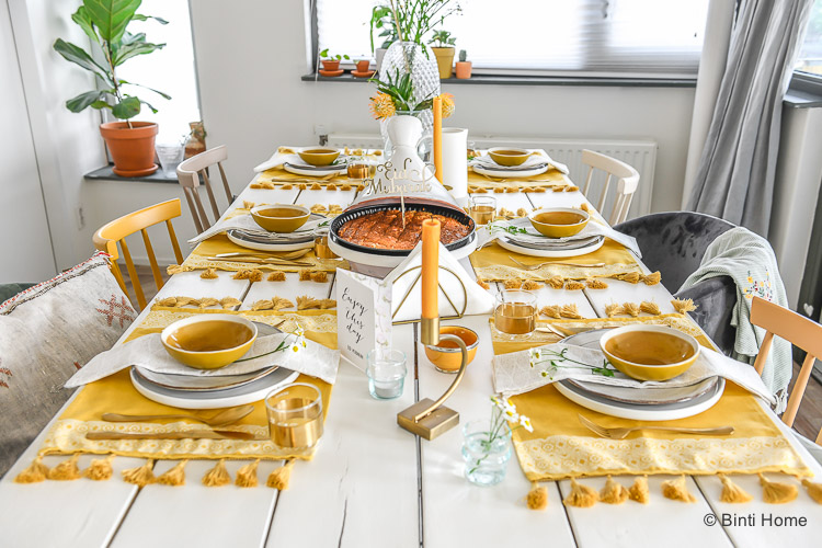 Tafel styling tips Ramadan Suikerfeest mint groen