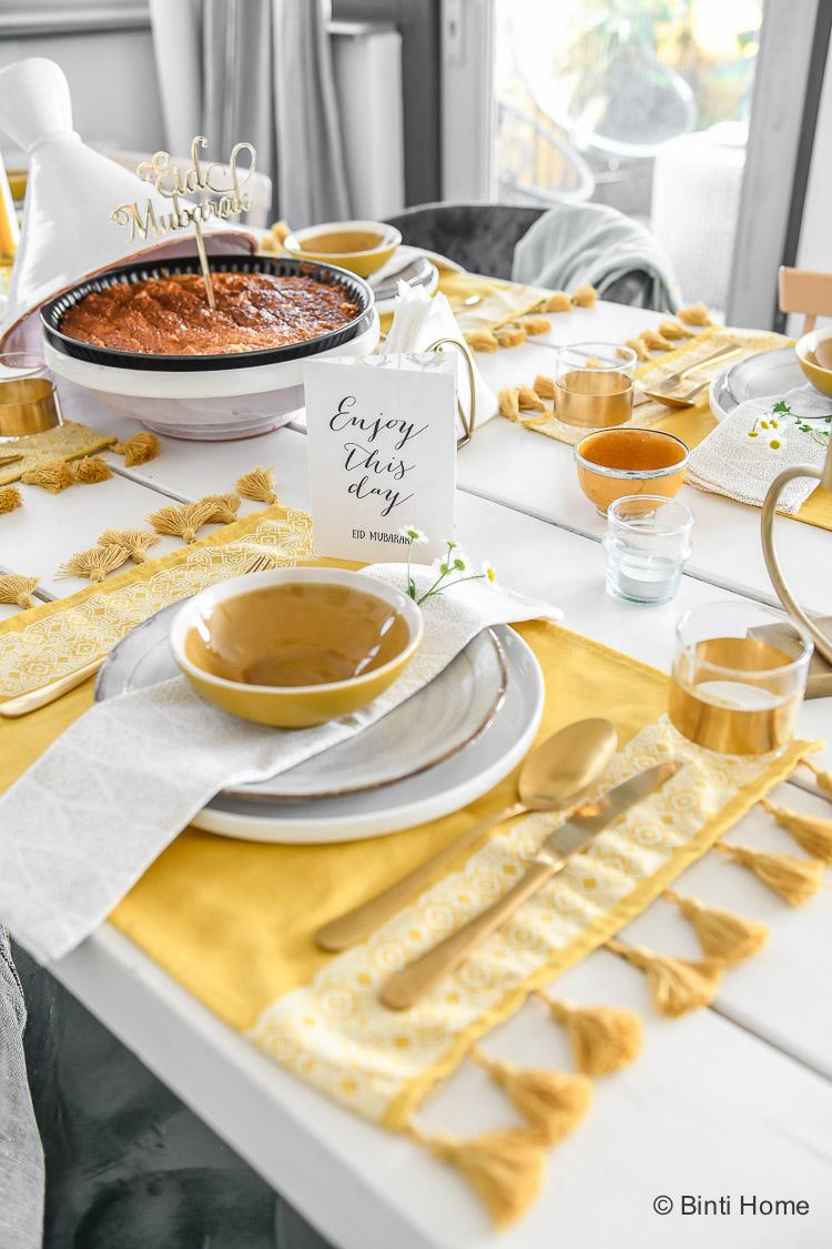 Ramadan vlog Suikerfeest tafel styling ©BintiHome_-8