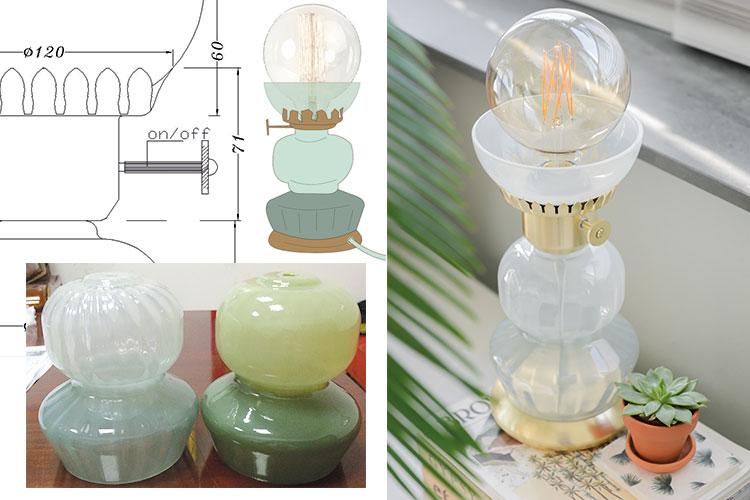 Tafellamp van glas By Binti Home WOWN! Kwantum