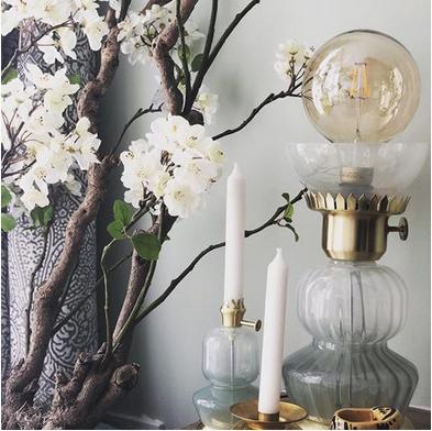 Wown by Binti Home tafellamp glas en goud WOWN Kwantum Instagram Amira Yasmine