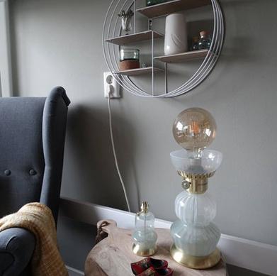 Wown by Binti Home tafellamp glas en goud WOWN Kwantum Instagram Anouklolkama