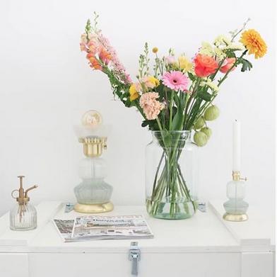 Wown by Binti Home tafellamp glas en goud WOWN Kwantum Instagram bij manon thuis