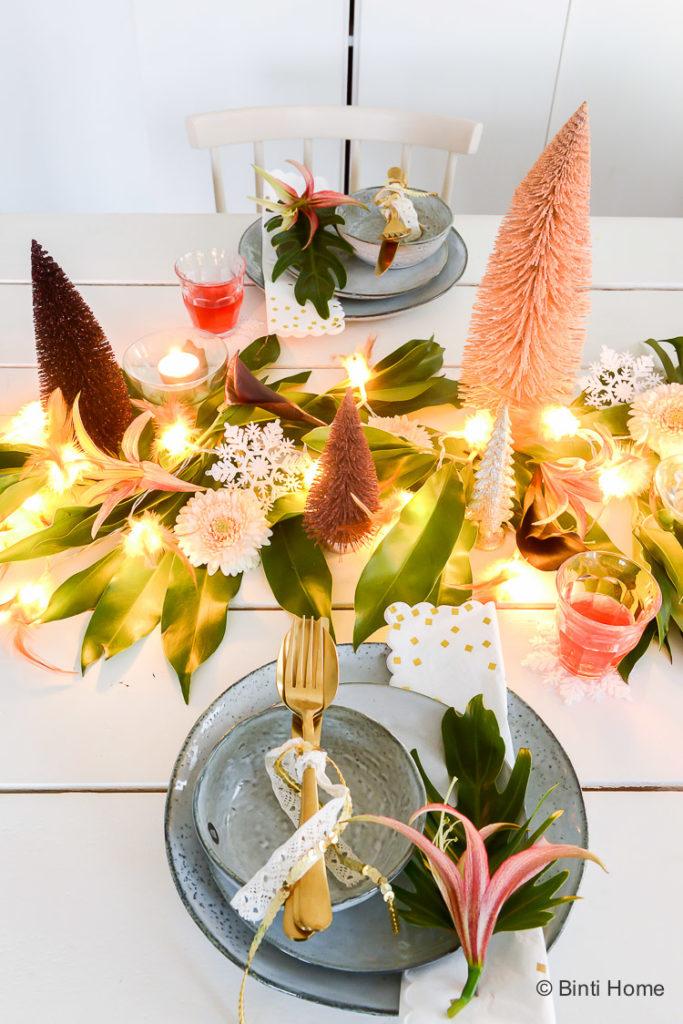 Een tropische kersttafel dekken – 3x stylingtips
