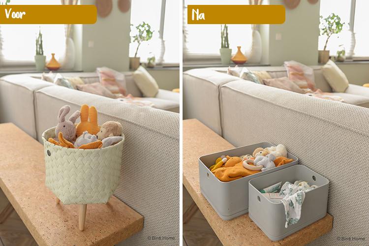 Opbergen van speelgoed in de woonkamer ©BintiHome